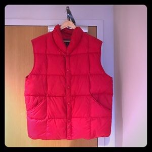 LAND'S END Mens down vest